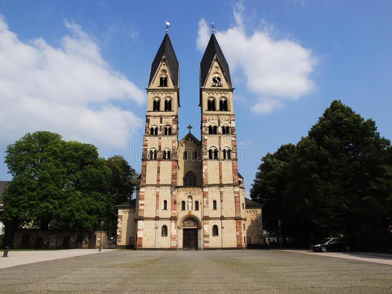 La basílica del echador del St. en Coblenza, Alemania imágenes de archivo libres de regalías
