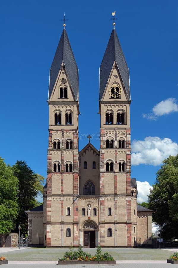 La basílica del echador del St. en Koblenz, Alemania foto de archivo
