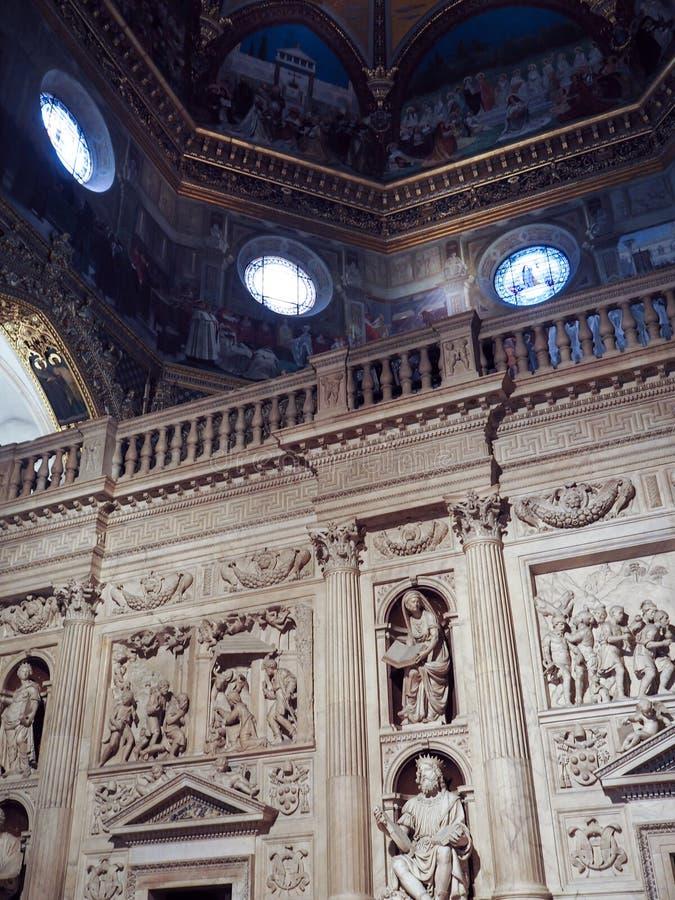 La basílica del santuario de la casa santa de Loreto en el AIE imágenes de archivo libres de regalías