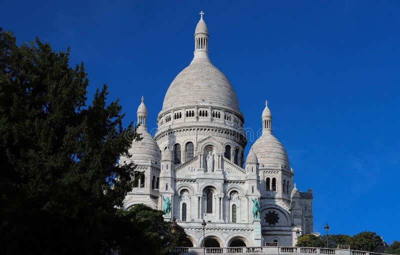 La basílica famosa Sacre Coeur, París, Francia imágenes de archivo libres de regalías