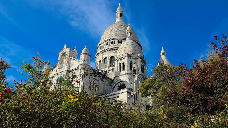 La basílica famosa Sacre Coeur, París, Francia fotos de archivo