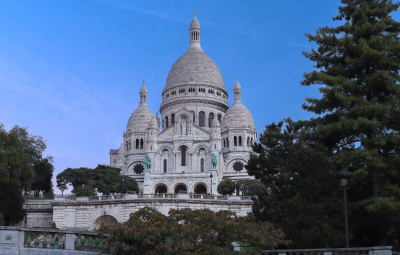 La basílica famosa Sacre Coeur, París, Francia fotografía de archivo