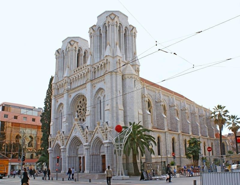 La basílica gótica foto de archivo