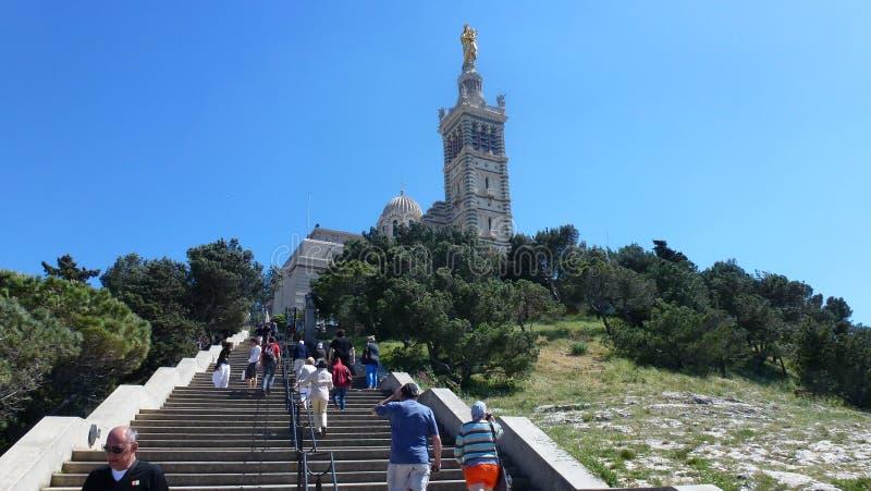 La basílica I Notr-dará el ?? ?? Gard. Marsella. fotografía de archivo