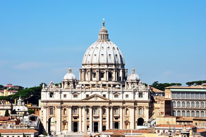 La basílica papal de San Pedro Vatican imagen de archivo libre de regalías