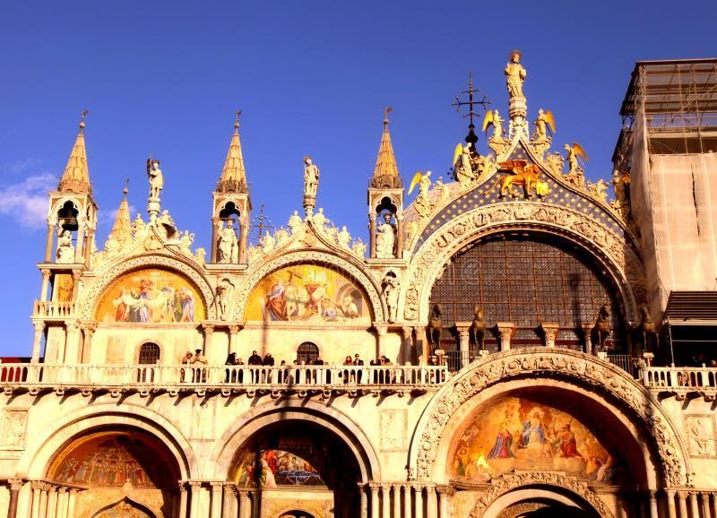 La basílica patriarcal de la catedral de St Mark, Venecia, Italia imágenes de archivo libres de regalías