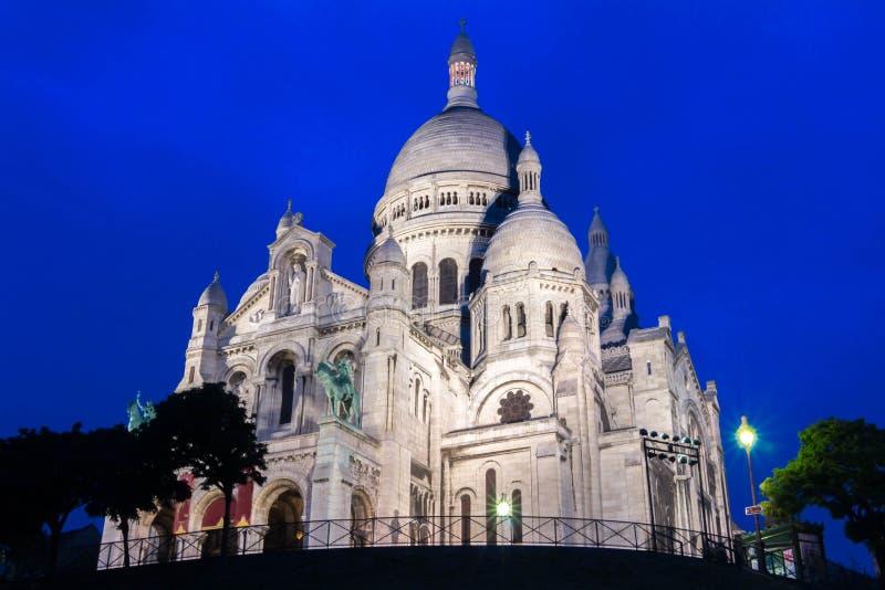 La basílica Sacre Coeur, París, Francia fotos de archivo