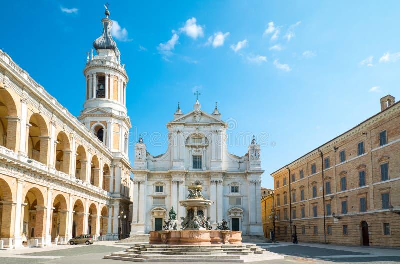 La basílica Santuary de Loreto imagen de archivo libre de regalías