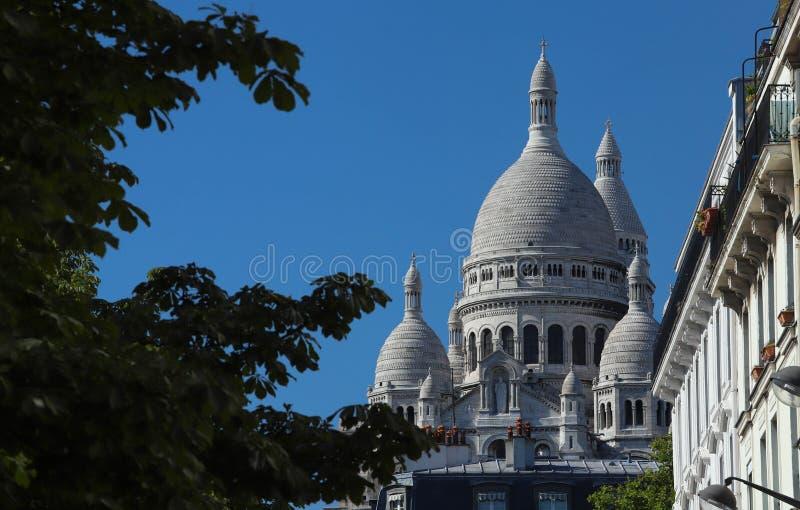 La bas?lica famosa Sacre Coeur, Par?s, Francia fotografía de archivo libre de regalías