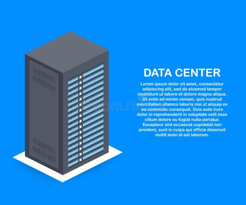La base de données de l'information d'ordinateur de serveur principal de connexion de nuage de centre de traitement des données s illustration stock