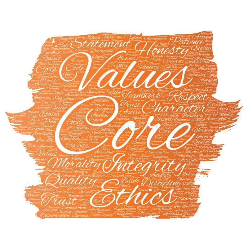 La base del vector valora la brocha de los éticas de la integridad libre illustration