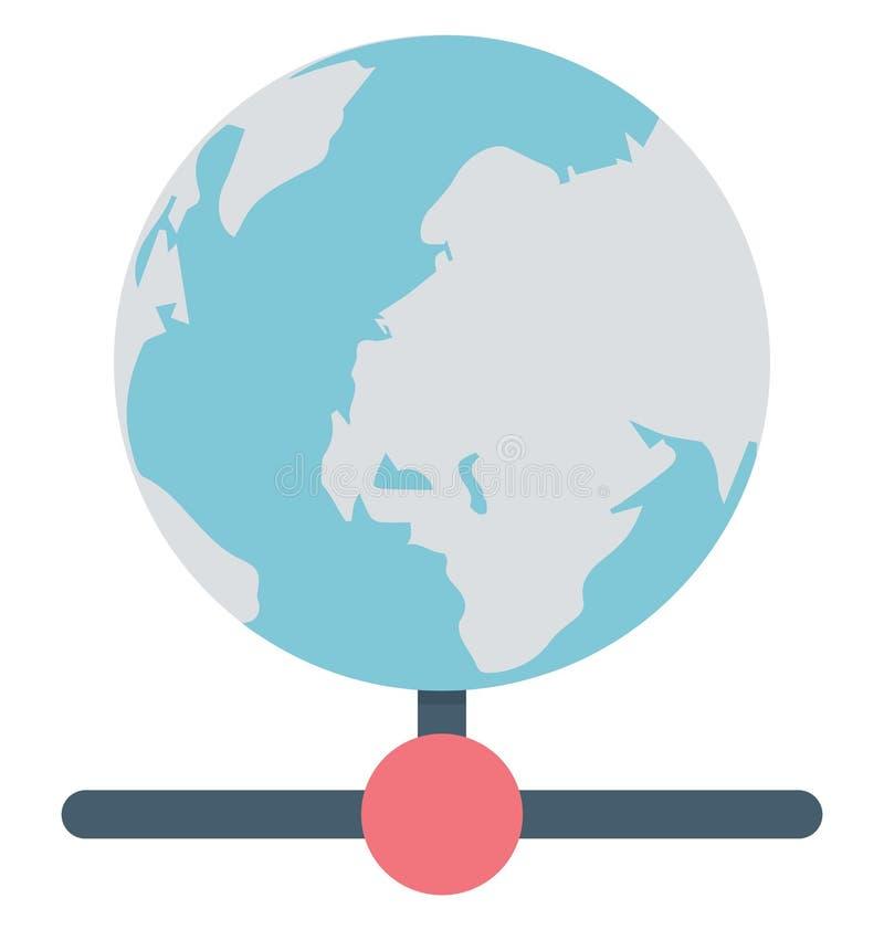 La base di dati globale, ospitare isolata che può essere facilmente pubblica o modificato illustrazione vettoriale