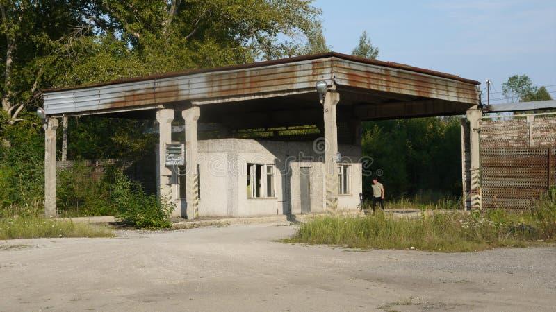 La base soviética anterior del automóvil en el aeropuerto fotografía de archivo libre de regalías