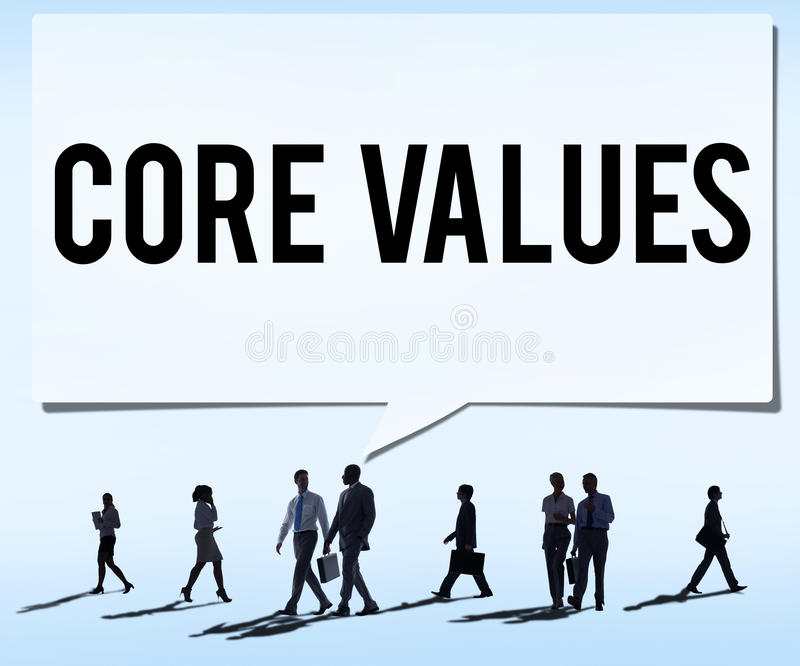 La base valora concepto del propósito principal de la ideología de las metas del foco de la base fotografía de archivo libre de regalías