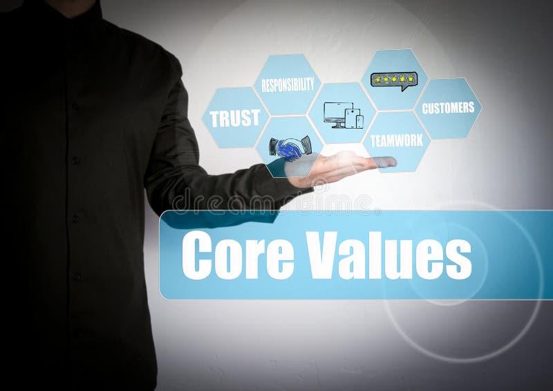 La base valora concepto Hombre de negocios acertado en el fondo ligero fotografía de archivo