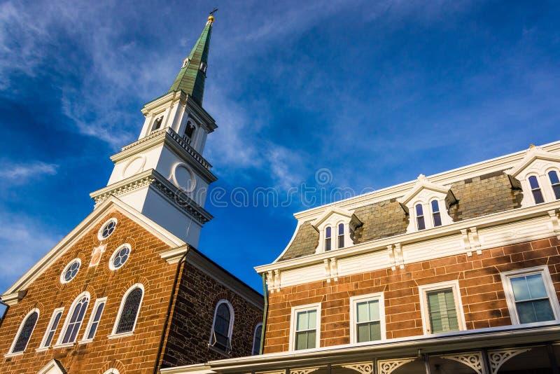 La basilica del cuore sacro di Gesù, a Hannover, Pennsylva immagini stock libere da diritti