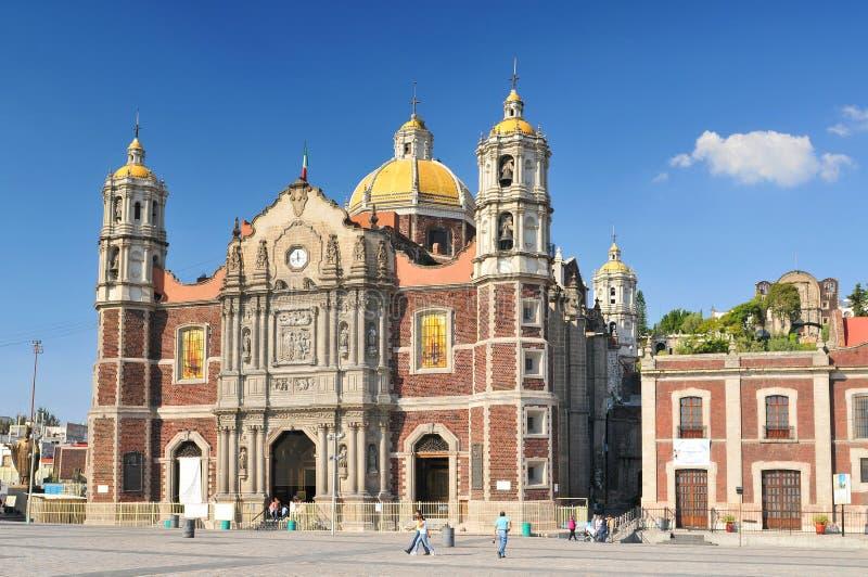 La basilica della nostra signora di Guadalupe, chiesa cattolica in Città del Messico, Messico fotografia stock libera da diritti