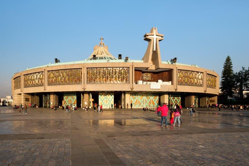 La basilica della nostra signora di Guadalupe in Città del Messico immagini stock