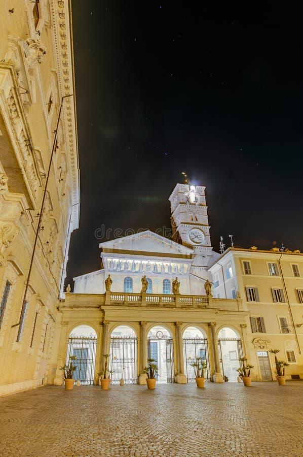 La basilica della nostra signora in Trastevere a Roma, Italia immagini stock libere da diritti
