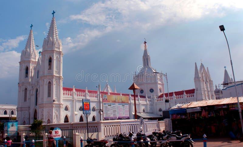 La basilica di fama mondiale della nostra signora dei buona salute in velankanni fotografia stock