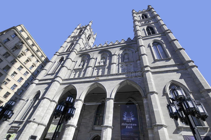 La basilica di Notre Dame fotografie stock