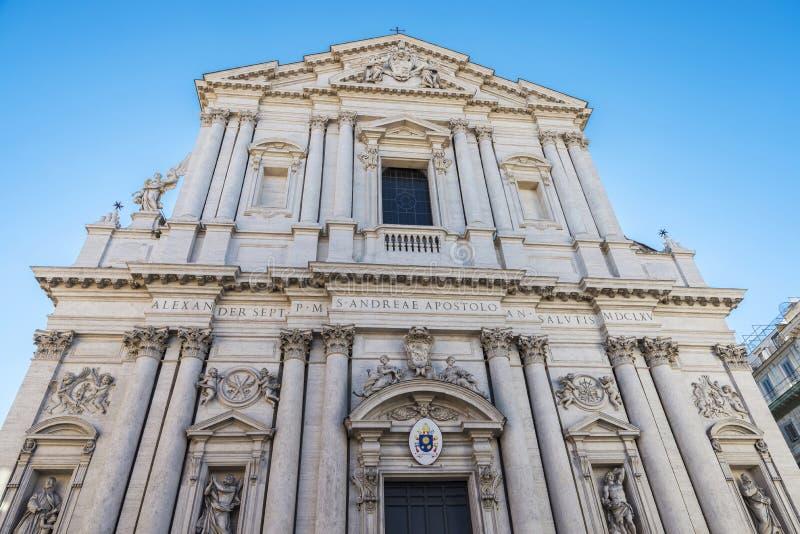 La basilica di Sant Andrea della Valle a Roma, Italia fotografia stock libera da diritti