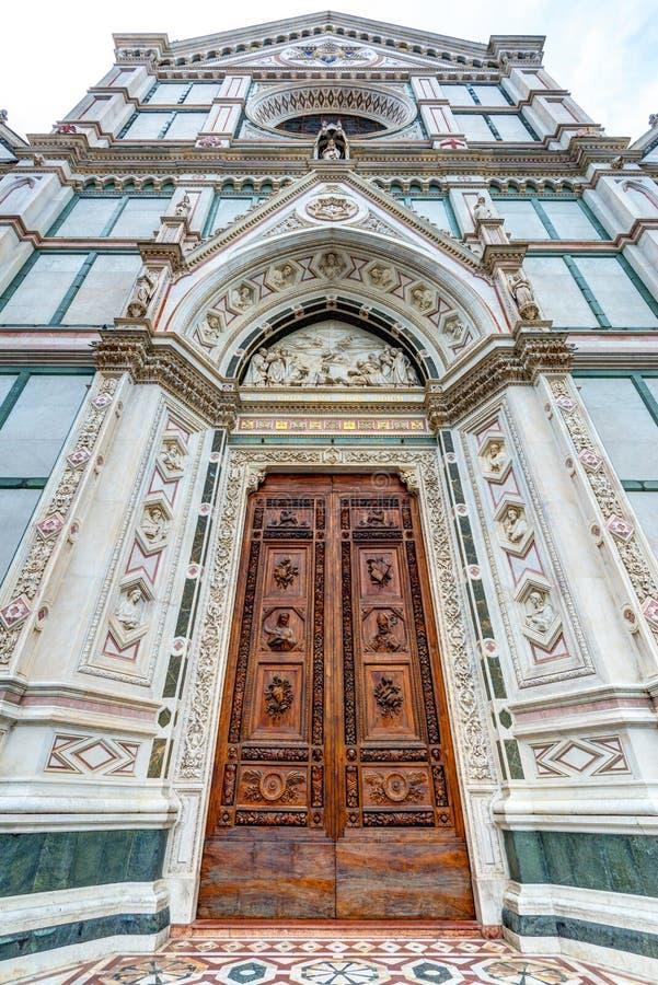 La basilica di Santa Croce a Firenze, Italia immagini stock
