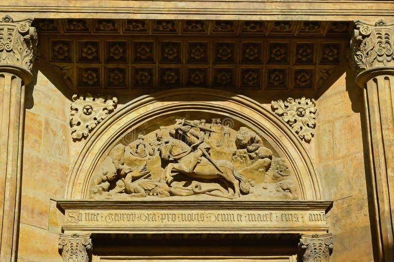 La basilica di St George del timpano, castello di Praga, Praga, repubblica Ceca fotografia stock libera da diritti