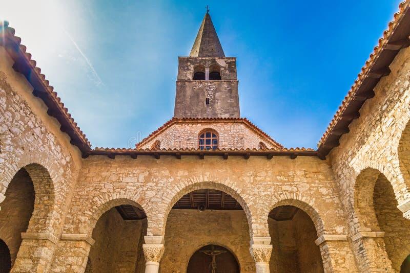 La Basilica euforica di Porec, Croazia fotografia stock