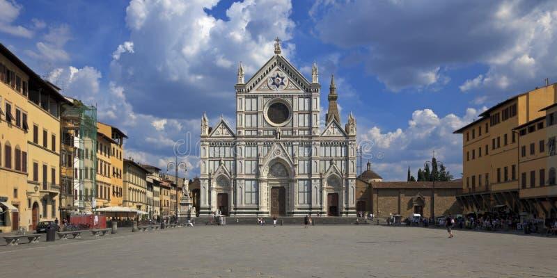 La basilica Santa Croce, Firenze, Italia immagine stock