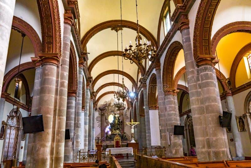 La basilique arque Madame Assumption Cathedral Church Oaxaca Mexique photo libre de droits