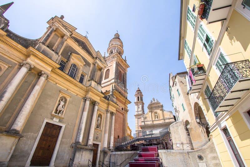 La basilique de Saint-Michel-Archange, Menton, France photos stock