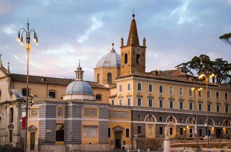 La basilique de Santa Maria del Popolo images libres de droits