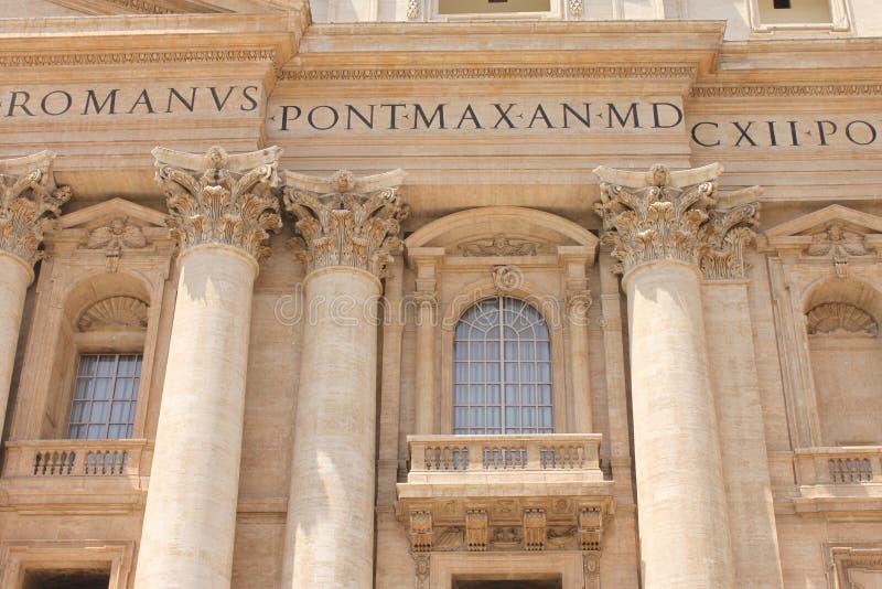 La basilique de St Peter en place de St Peter, Ville du Vatican photos libres de droits