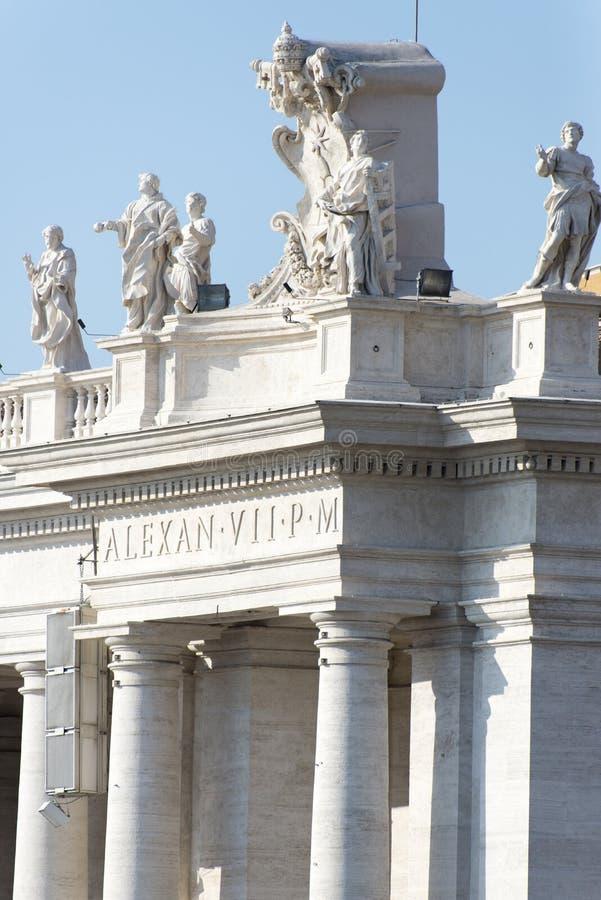 La basilique de St Peter, petit groupe de Ville du Vatican photographie stock