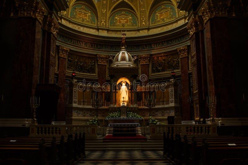 La basilique de St Stephen d'intérieur image libre de droits