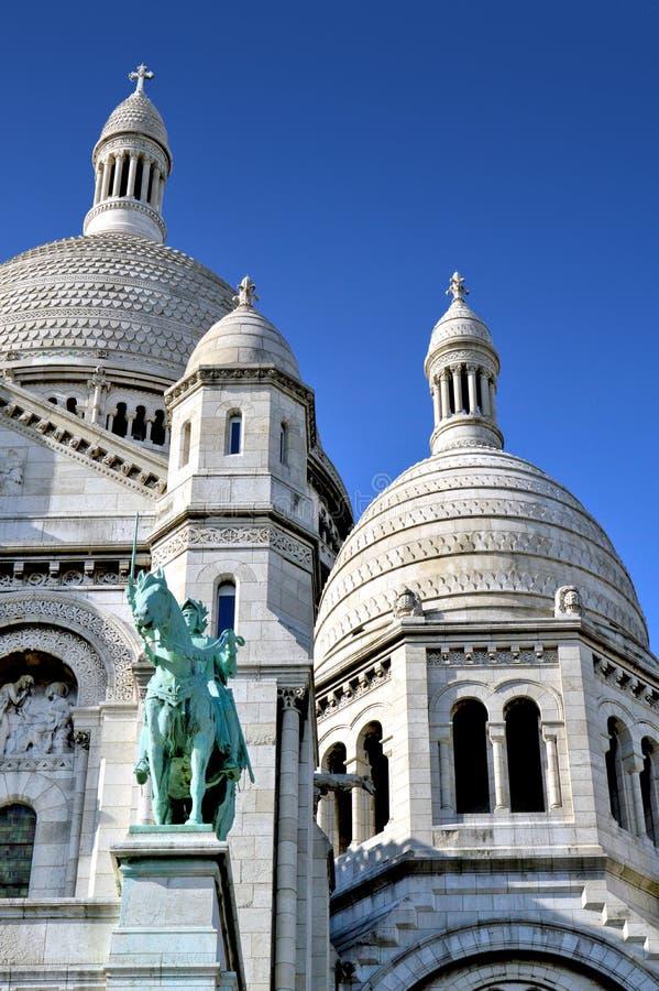 La basilique du coeur sacré de Paris images libres de droits