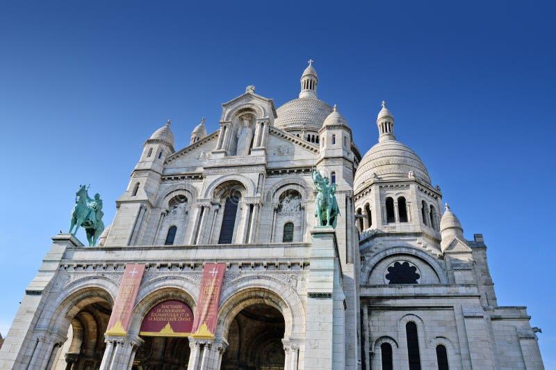 La basilique du coeur sacré de Paris image stock