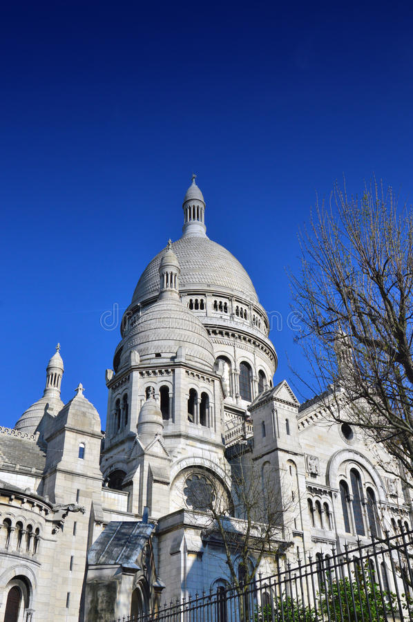 La basilique du coeur sacré de Paris photos libres de droits