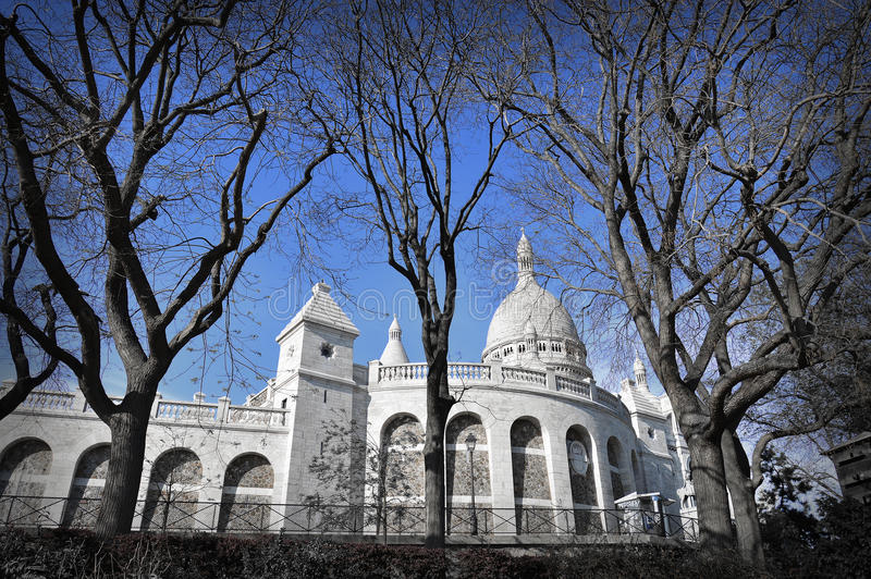 La basilique du coeur sacré de Paris photo stock