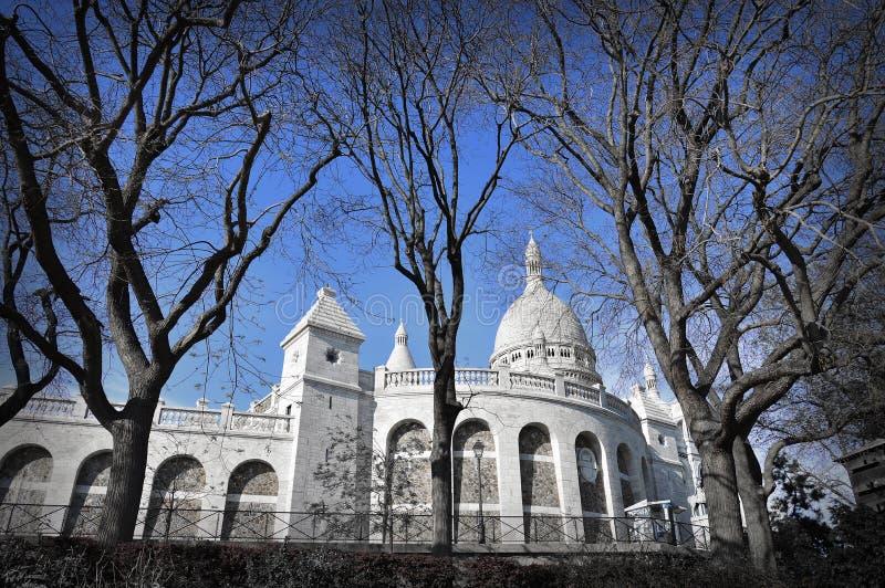 La basilique du coeur sacré de Paris photo stock