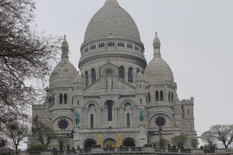 La basilique du coeur sacré de Paris photo libre de droits