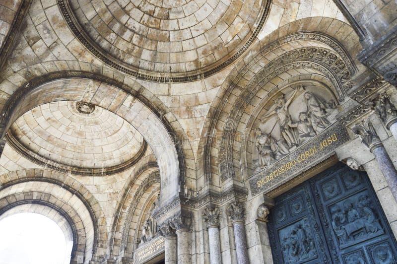 La basilique du coeur sacré de Paris, un chur catholique images stock