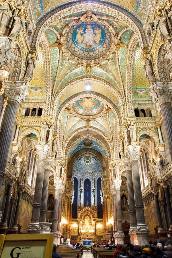 La Basilique Notre Dame de Fourvière foto de stock