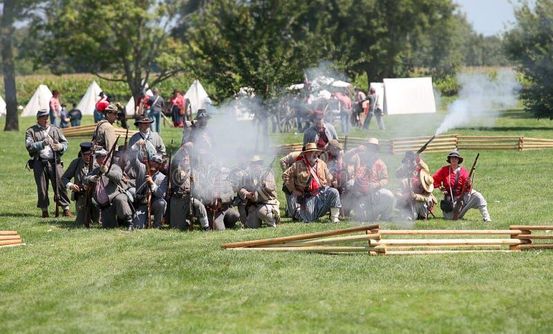 la bataille du shiloh photos libres de droits