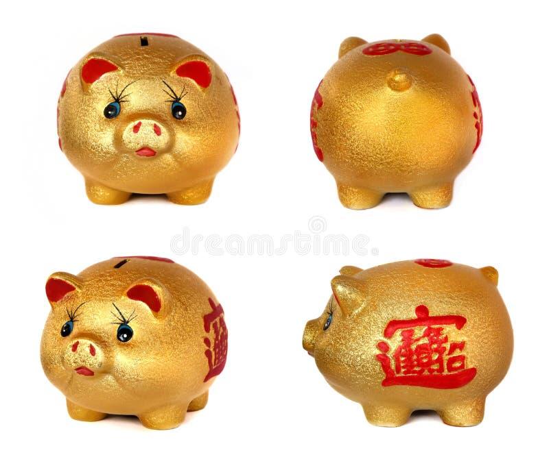 La batería guarra del cerdo de oro. foto de archivo libre de regalías
