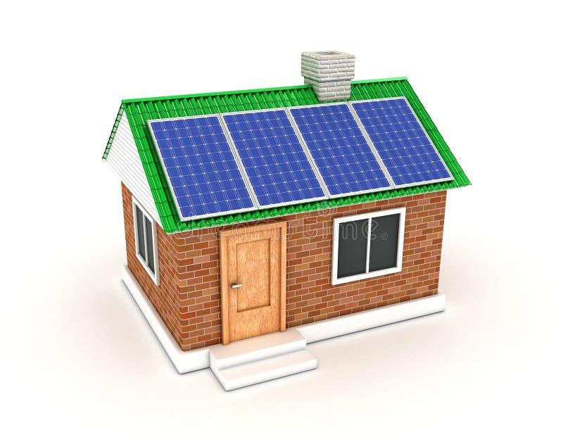 La batteria solare fotografia stock