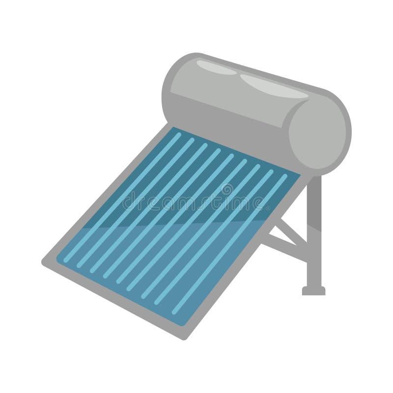 La batterie solaire dans le corpus brillant en métal a isolé l'illustration illustration de vecteur
