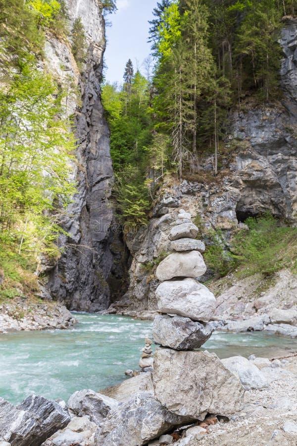 La Bavière Allemagne de Partnachklamm Garmisch-Partenkirchen images libres de droits