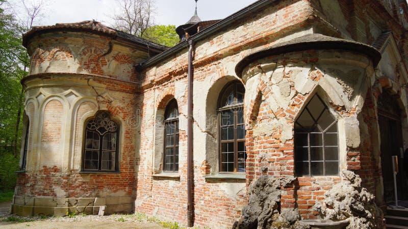 la Bavière grunge de Munich d'abbaye de petite église de magdalenenlause photographie stock